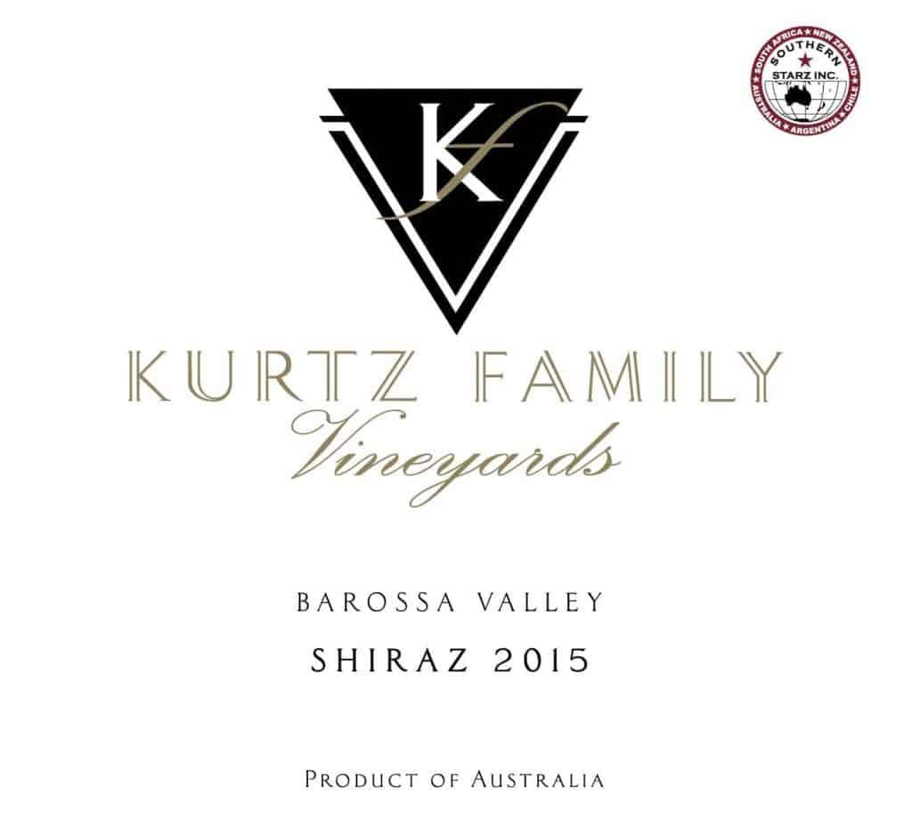 Kurtz Shiraz 2015 Hi-Res Label