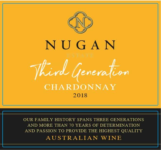 Nugan 3rd Gen Chardonnay 2018 Hi-Res Label