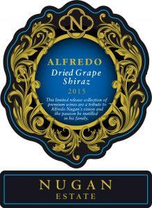 Nugan Alfredo Dried Grape Shiraz 2015 Hi-Res Label