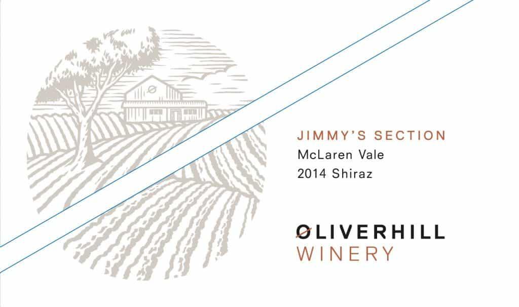 Oliverhill Jimmy Section Shiraz 2014 Hi-Res Label