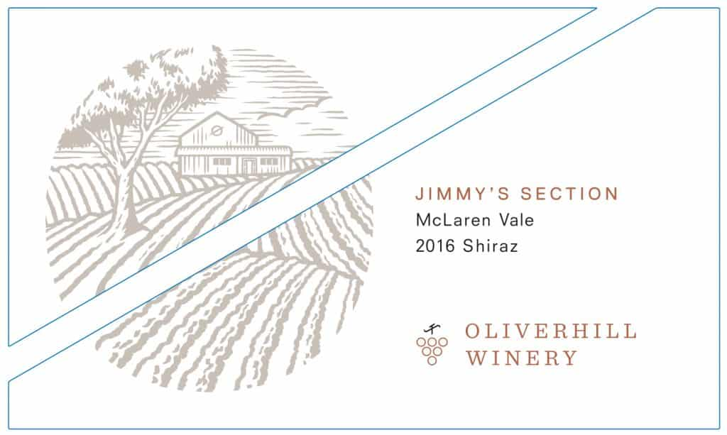 Oliverhill Jimmy Section Shiraz 2016 Hi-Res Label
