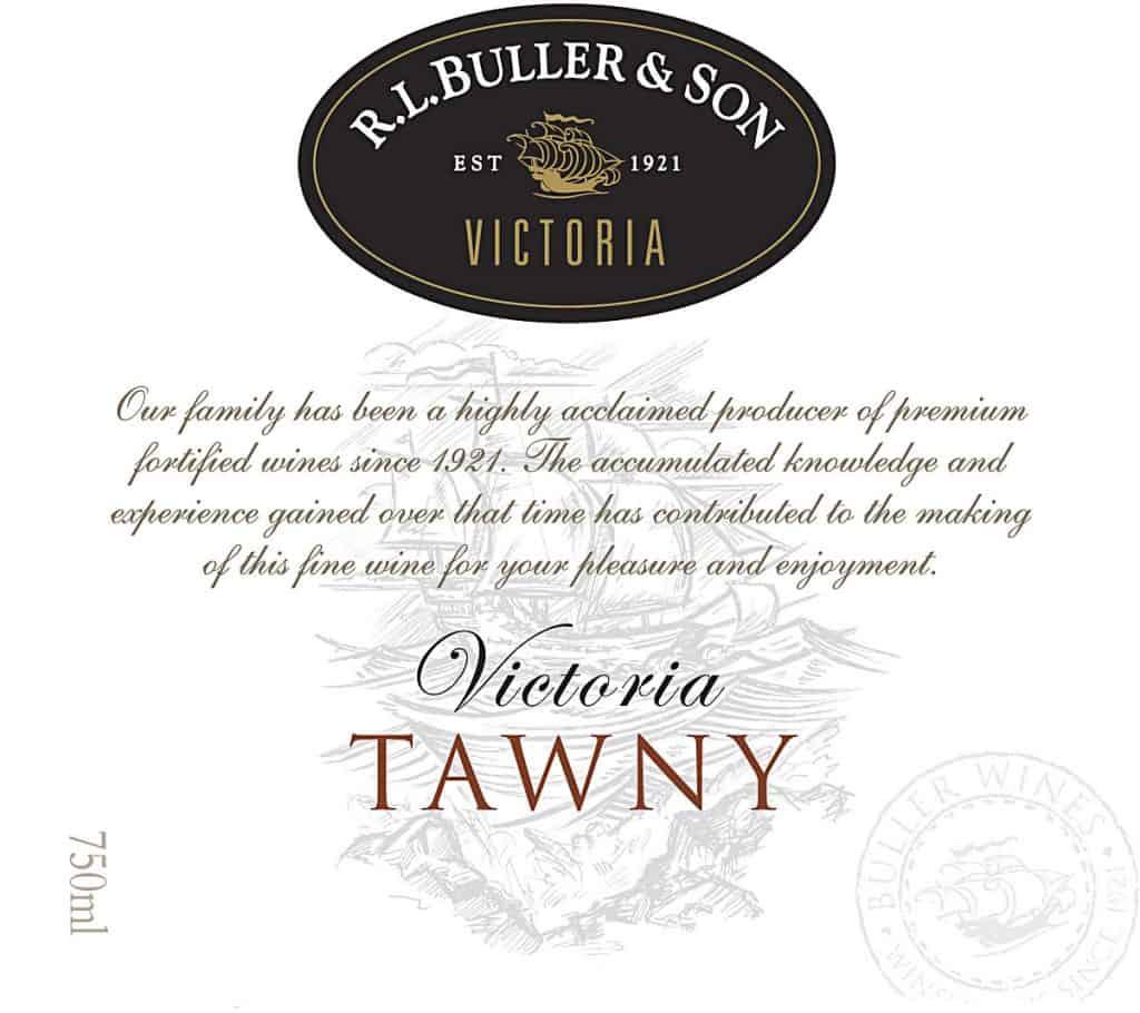 RL Buller Victoria Tawny NV Hi-Res Label