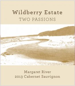 Wildberry Two Passions Cabernet Sauvignon 2013 Hi-Res Label