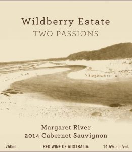 Wildberry Two Passions Cabernet Sauvignon 2014 Hi-Res Label