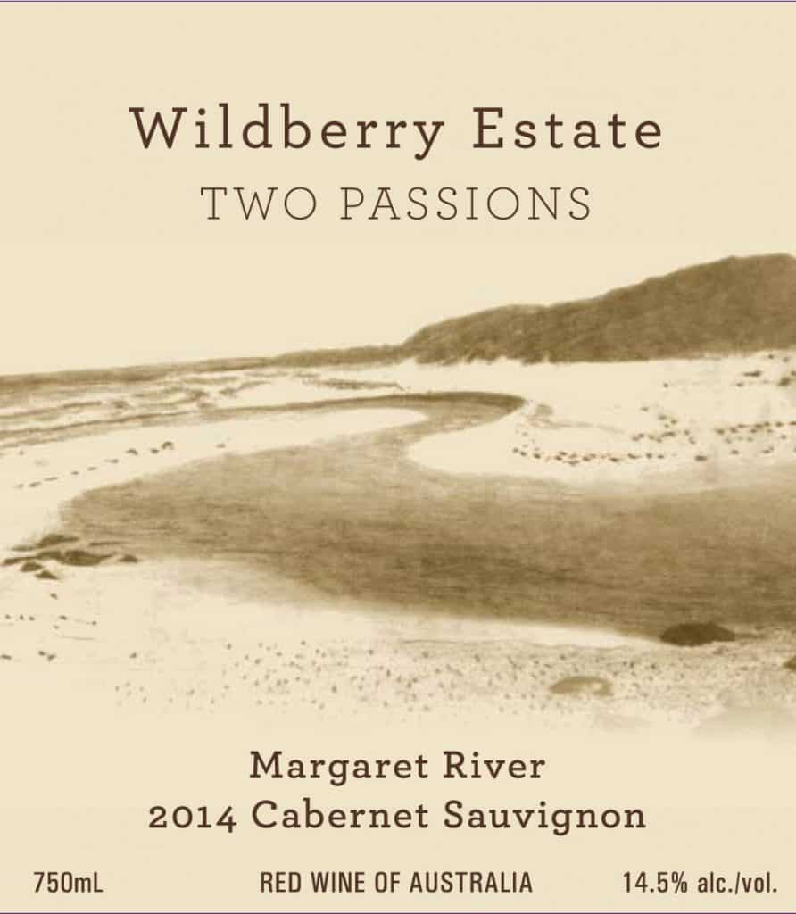 Wildberry Two Passions Cabernet Sauvignon 2014 Hi-Res Label