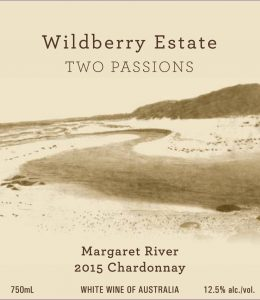 Wildberry Two Passions Chardonnay 2015 Hi-Res Label