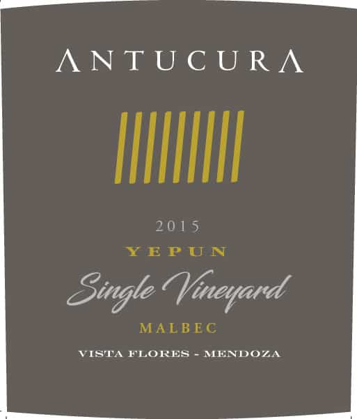 Antucura Single Vineyard Yepun Malbec 2015 Hi-Res Label