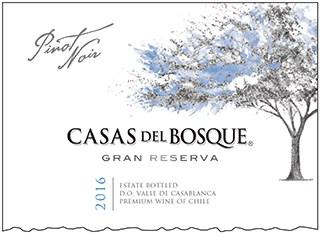 Casas del Bosque Gran Reserva Pinot Noir 2016 Hi-Res Label