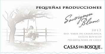 Casas del Bosque Pequenas Producciones Sauvignon Blanc 2017 Hi-Res Label