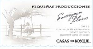 Casas del Bosque Pequenas Producciones Sauvignon Blanc 2018 Hi-Res Label