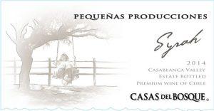 Casas del Bosque Pequenas Producciones Syrah 2014 Hi-Res Label