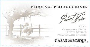 Casas del Bosque Pequenas Producciones Pinot Noir 2014 Hi-Res Label