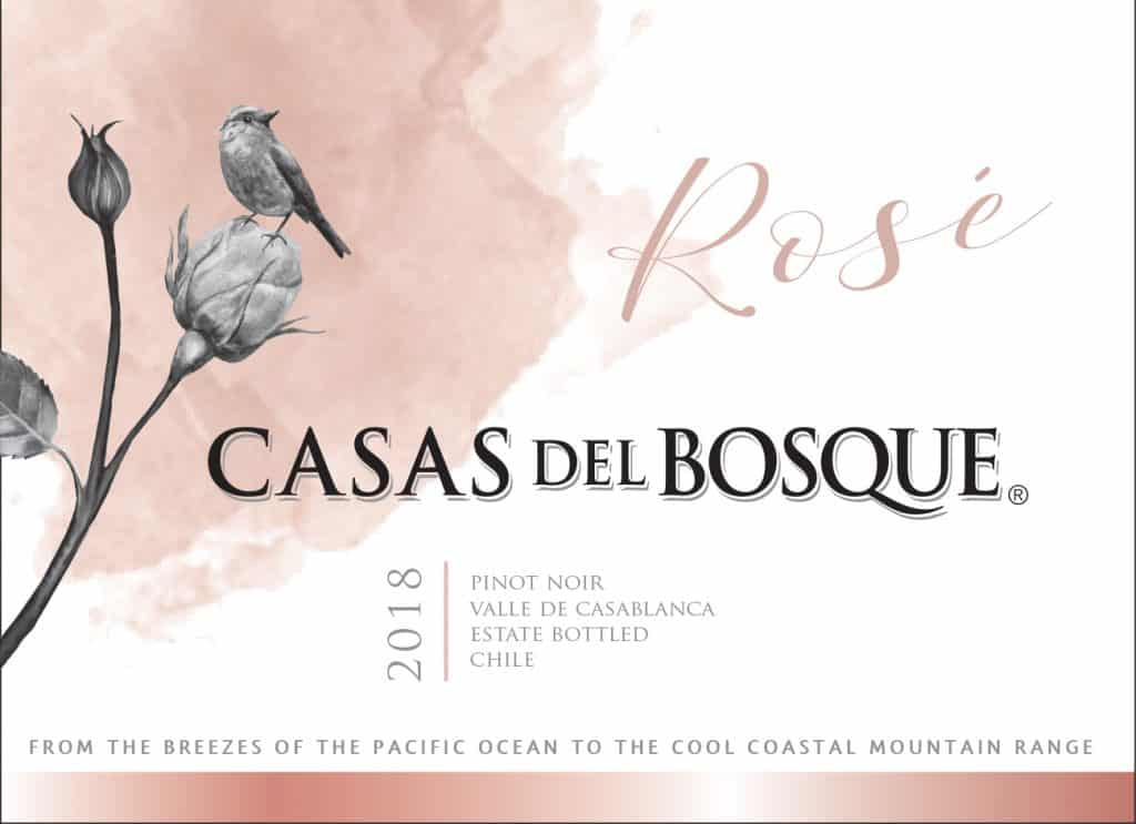 Casas del Bosque Reserva Rose 2018 Hi-Res Label