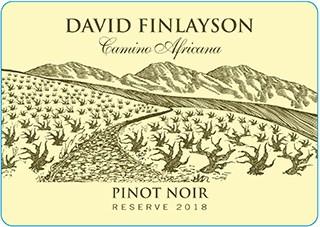 David Finlayson Camino Africano Pinot Noir Reserve 2018 Hi-Res Label