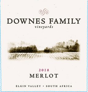 Downes Family Merlot 2018 Hi-Res Label