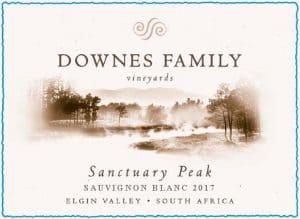 Downes Sanctuary Peak Sauvignon Blanc 2017 Hi-Res Label