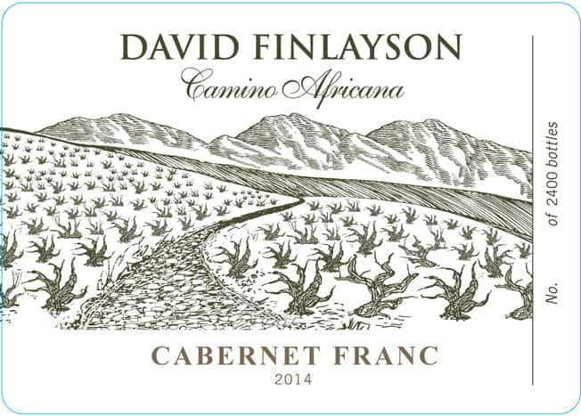 Edgebaston David Finlayson Camino Africana Cab Franc 2014 Hi-Res Label