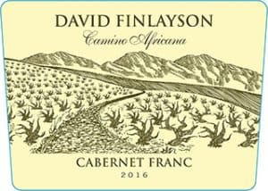 Edgebaston David Finlayson Camino Africana Cab Franc 2016 Hi-Res Label