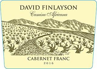 Edgebaston David Finlayson Camino Africana Cab Franc 2016 Hi-Res Label