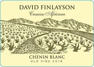 Edgebaston David Finlayson Camino Africana Chenin Blanc 2018 Hi-Res Label