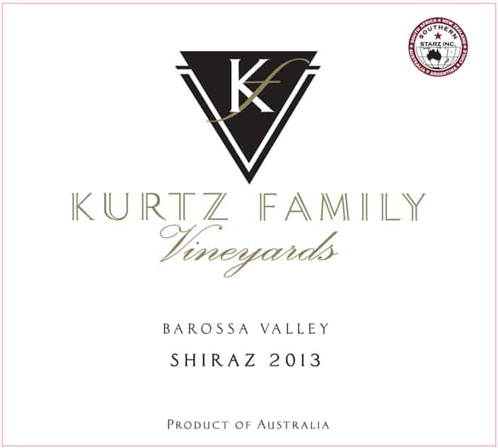 Kurtz Shiraz 2013 Hi-Res Label