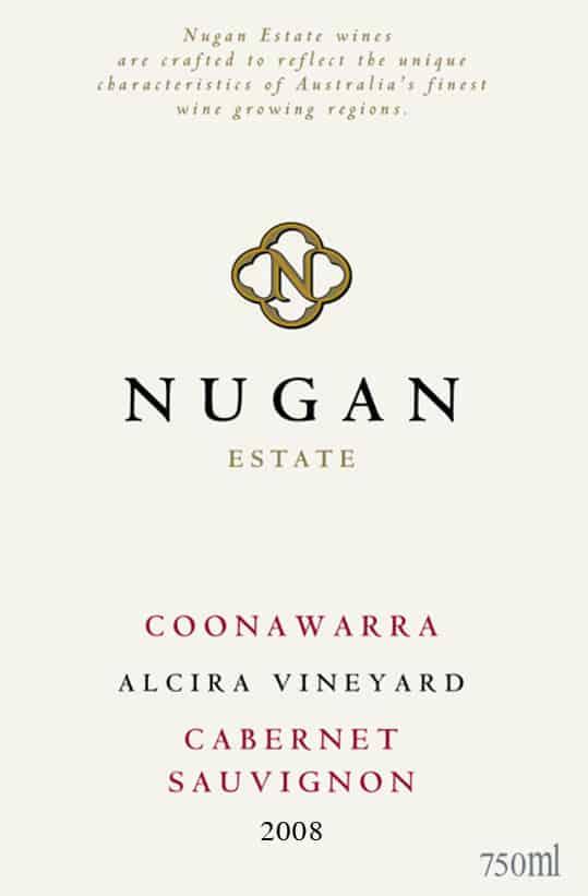 Nugan Estate Alcira Vyd Cabernet Sauvignon 2008 Hi-Res Label