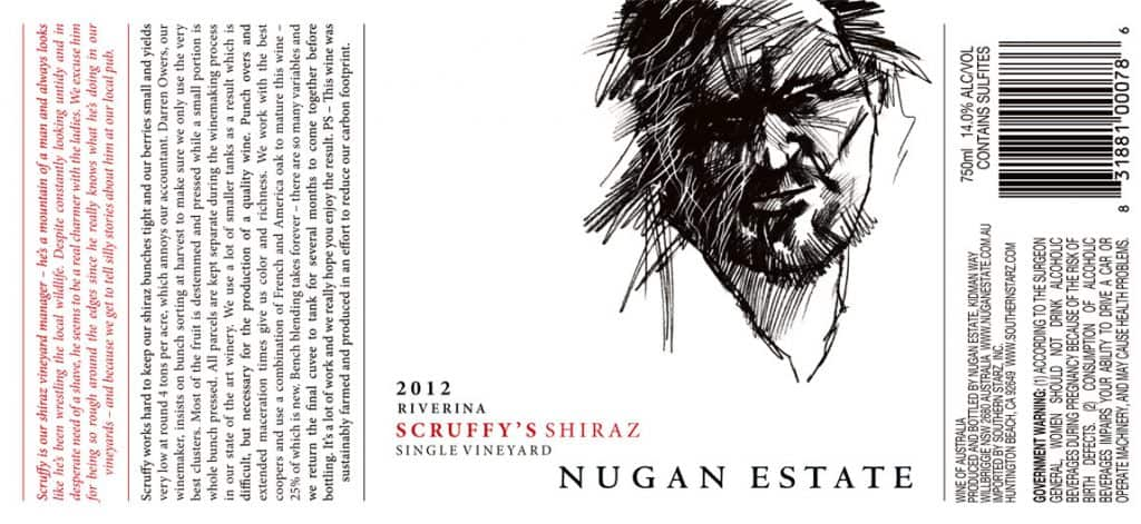 Nugan Estate Scruffys Shiraz 2012 Hi-Res Label