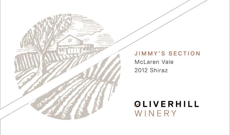 Oliverhill Jimmy Section Shiraz 2012 Hi-Res Label