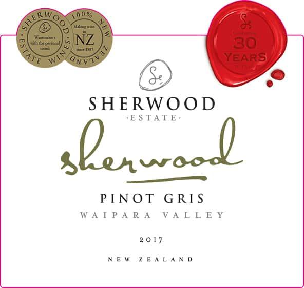 Sherwood Pinot Gris 2017 Hi-Res Label