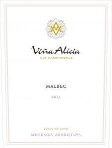 Vina Alicia Las Compuertas Malbec 2013 Hi-Res Label