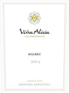 Vina Alicia Las Compuertas Malbec 2014 Hi-Res Label