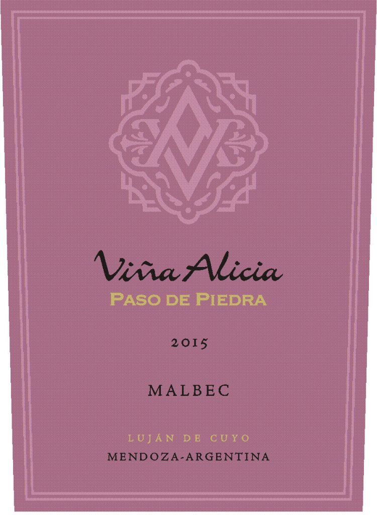 Vina Alicia Paso de Piedra Malbec 2015 Hi-Res Label