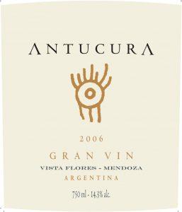 Antucura Gran Vin 2006 Hi-Res Label
