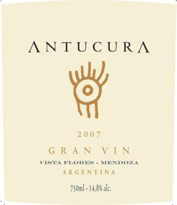 Antucura Gran Vin 2007 Hi-Res Label