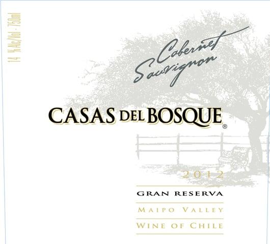 Casa del Bosque Gran Reserva Cabernet Sauvignon 2012 Hi-Res Label