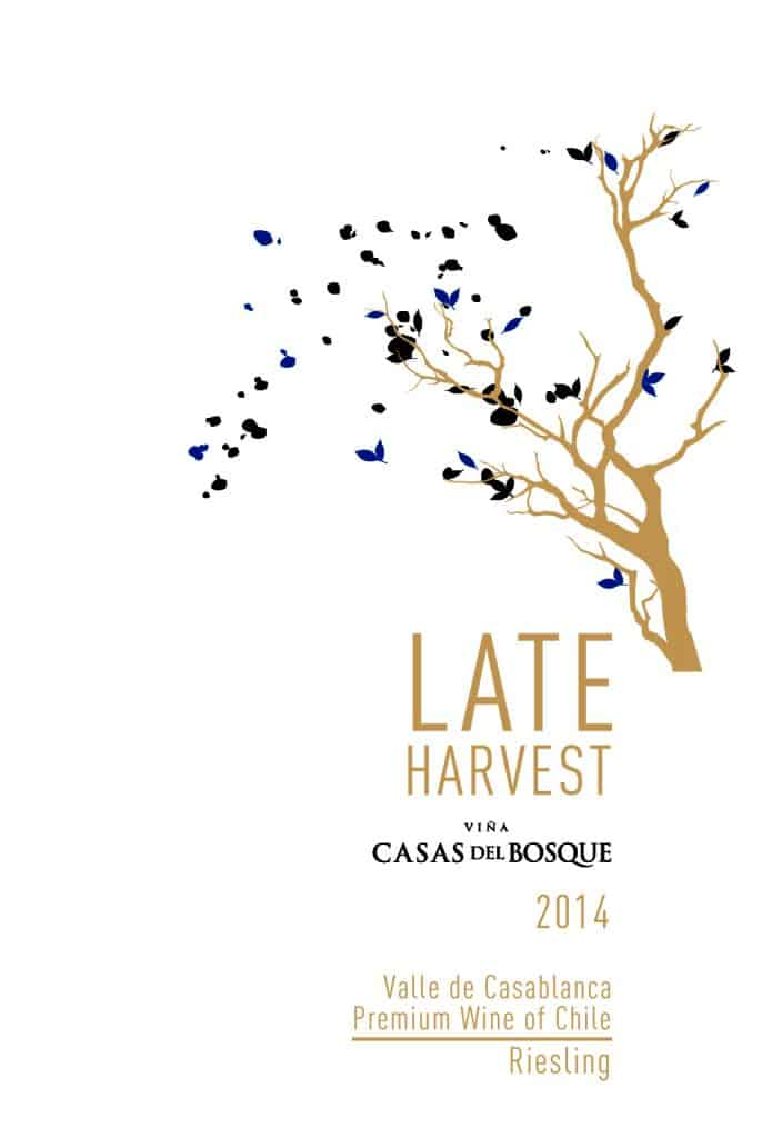 Casas del Bosque Late Harvest Riesling 2014 Hi-Res Label