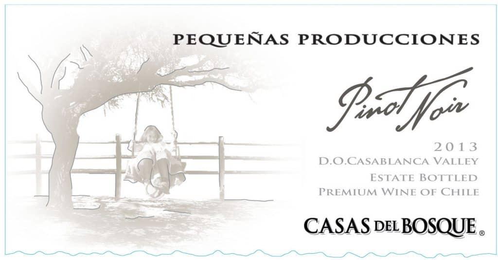 Casas del Bosque Pinot Noir Pequenas Producciones 2013 Hi-Res Label