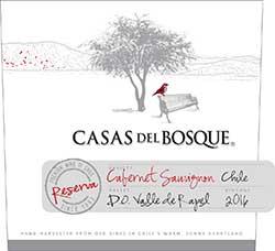 Casas del Bosque Reserva Cabernet Sauvignon 2016 Hi-Res Label