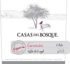 Casas del Bosque Reserva Carmenere 2015 Hi-Res Label
