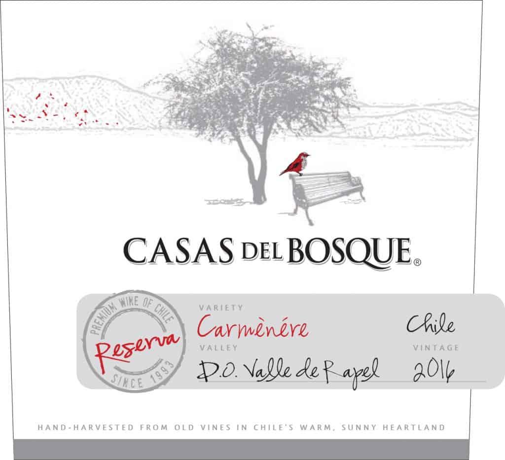 Casas del Bosque Reserva Carmenere 2016 Hi-Res Label