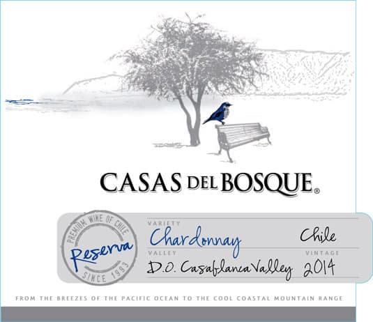 Casas del Bosque Reserva Chardonnay 2014 Hi-Res Label