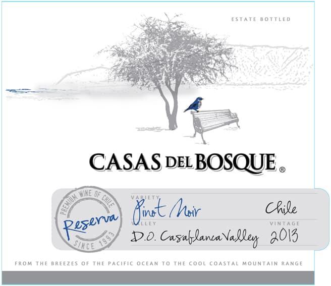 Casas del Bosque Reserva Pinot Noir 2013 Hi-Res Label
