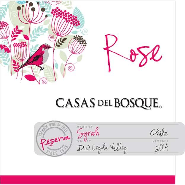 Casas del Bosque Reserva Rose 2014 Hi-Res Label