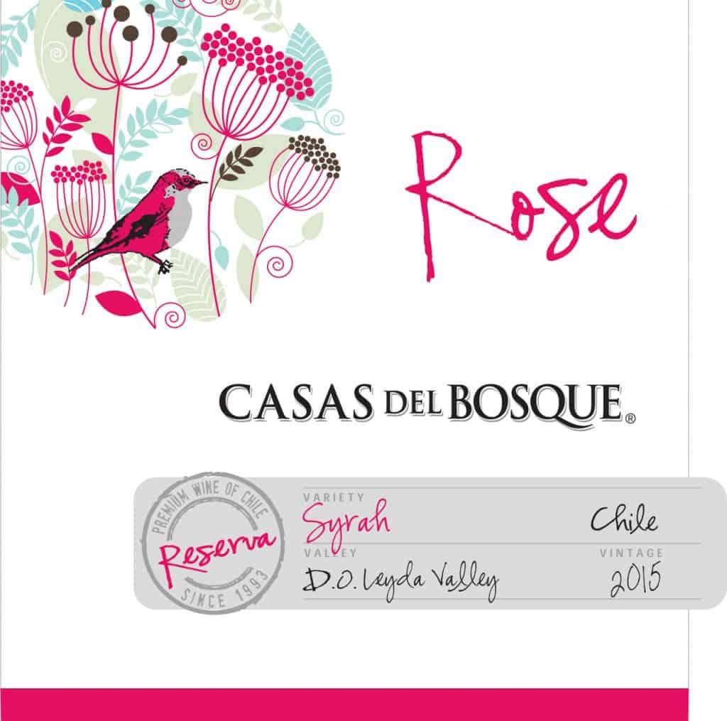 Casas del Bosque Reserva Rose 2015 Hi-Res Label