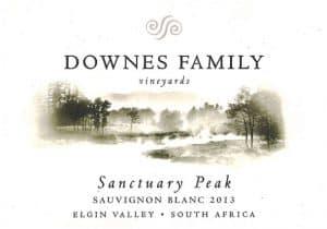Downes Sanctuary Peak Sauvignon Blanc 2013 Hi-Res Label