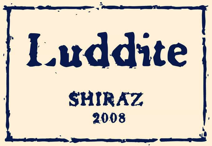 Luddite Shiraz 2008 Hi-Res Label