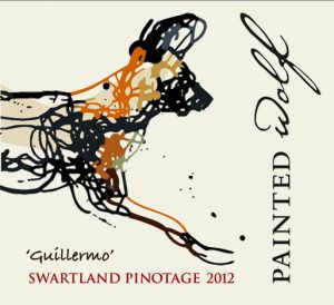 Painted Wolf Guillermo Pinotage 2012 Hi-Res Label