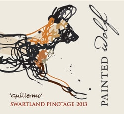 Painted Wolf Guillermo Pinotage 2013 Hi-Res Label