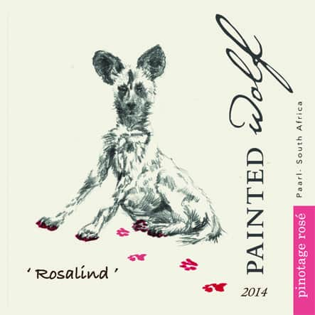 Painted Wolf Pinotage Rose 2014 Hi-Res Label