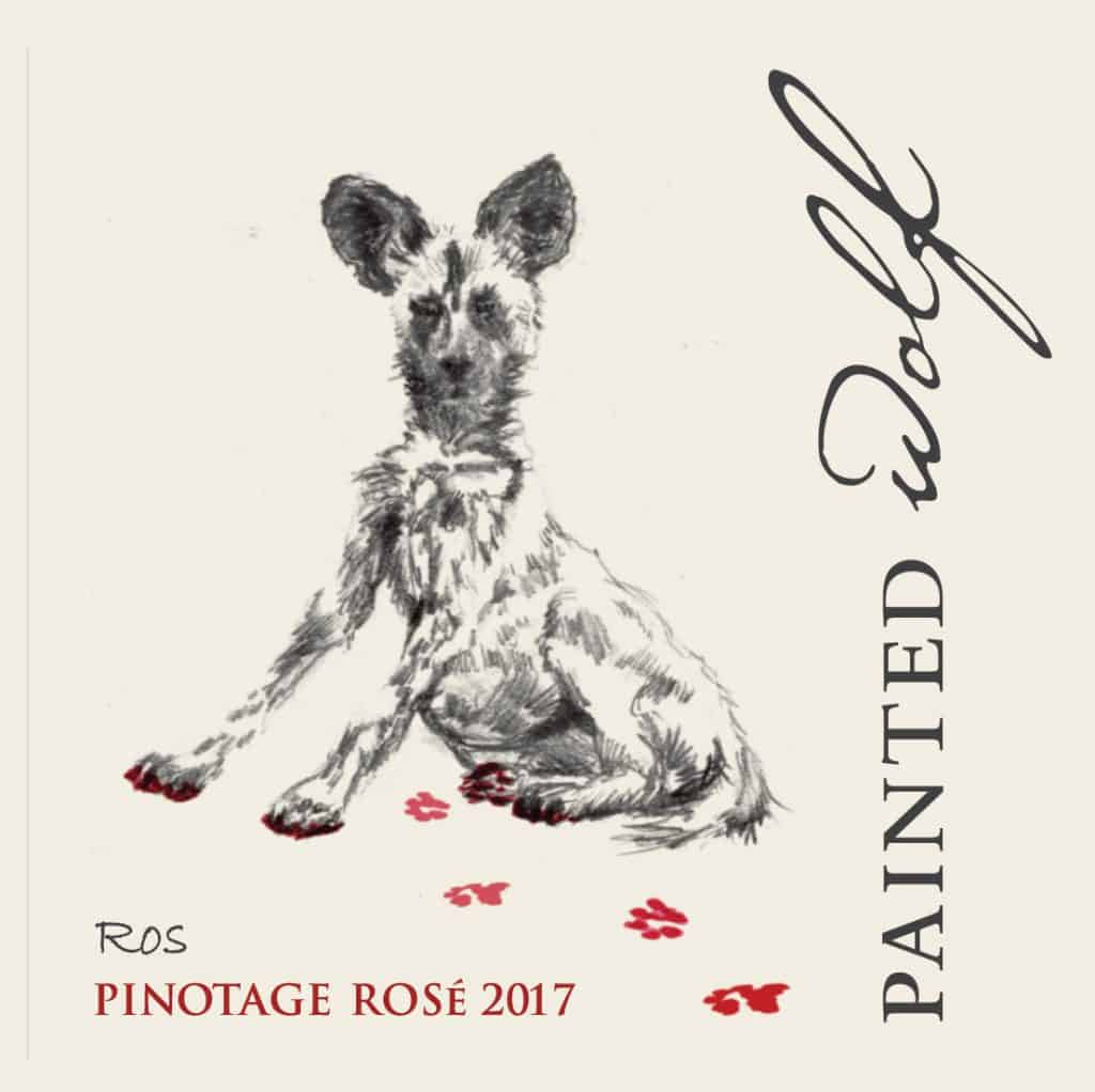 Painted Wolf Pinotage Rose 2017 Hi-Res Label